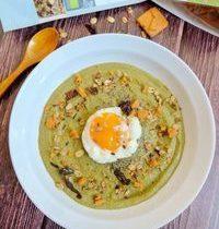 Soupe Haricots Verts Épaisse, Crème Coco &  Oeuf Poché