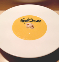 Chestnut and pumpkin soup