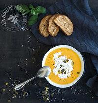 Soupe réconfort carotte, navet, coco