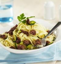 Spaghetti au boeuf caramélisé