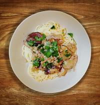 Spaghetti with cep (porcini) mushrooms
