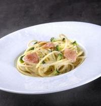 Spaghettis crémés au saumon frais et brocolis