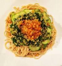 Spaghettis d'amour végétariennes