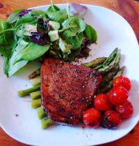 Steak de thon tomates asperges détox