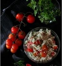Taboulé de Chou-Fleur Cru au Persil & Tomates Cerises