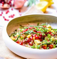 Taboulé de quinoa sucré-salé mangue et grenade