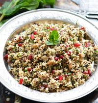 Taboulé quinoa à la grenade et feta