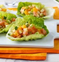 Tartare de saumon, pomme et agrumes