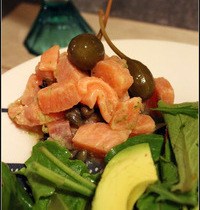 tartare de saumon aux câpres