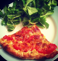 Tomato and Cantal Cheese Tart