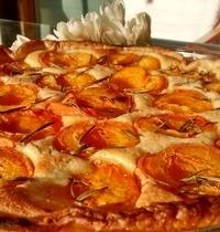 Tarte abricots/romarin