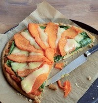 Yvan Cadiou's winter squash pie with ricotta and baby spinach