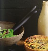 Tarte aux épinards, ricotta et sésame grillé