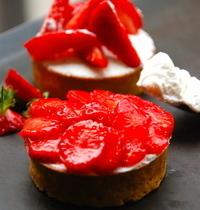 Tarte blanc manger + fraises