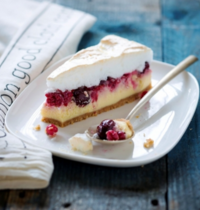 Tarte cheesecake meringuée