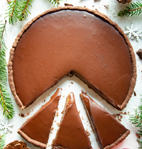 Tarte chocolat noisette & caramel (Vegan)