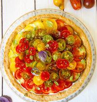 Tarte cruite à la tomate