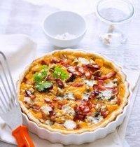 Autumnal butternut squash and Roquefort pie