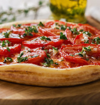 Melt in your mouth tomato and fromage blanc pie