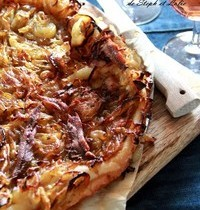 "Tarte ""Oignons et anchois"" sans gluten"