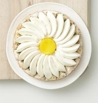 Pistachio, mango and jasmine cream pie
