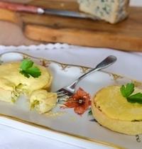 Tartelette au Bleu de Laqueuille et son Sabayon au Chocolat Blanc
