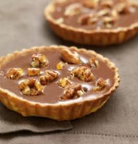Tartelettes au chocolat caramel et noix de pécan caramélisées