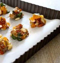 Tartelettes de fruits secs aux framboises