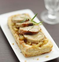 Tartelettes Poires et Boudin Blanc