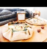 Tarte rustique chèvre miel épinard