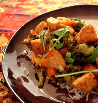 Tempeh aux légumes aigre-doux