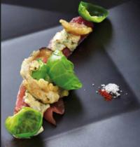 Thon confit, andouille croustillante, sauce béarnaise