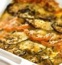 Vegetable tian with comté cheese