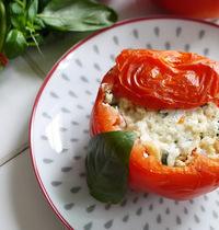 Tomates farcies à la feta et au basilic