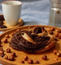 Tresse au chocolat noir et poudre d'amandes - vegan & sans gluten