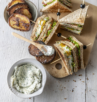 Veggie club sandwich par Scotchman