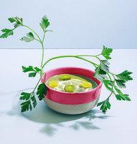 Velouté de poireaux au persil