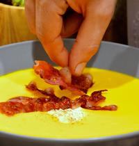 Velouté de potimarron et crispy bacon