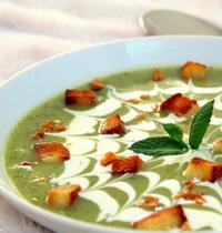 Velouté glacé courgette & menthe (vegan, sans gluten)