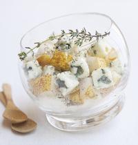 Verrine de poires et Roquefort Société®