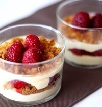 Verrine fromage blanc, framboise & spéculos