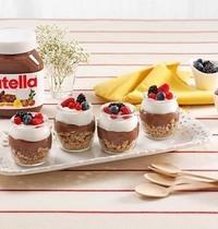 Verrines de yaourt et muesli au Nutella
