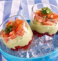 Verrines glacées de légumes