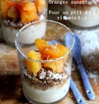 Verrines « riz au lait et oranges sanguines »
