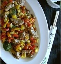 Wok de Boeuf & Légumes Croquants