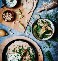 Wrap d'épeautre aux légumes verts