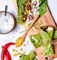 Wrap salade à la mexicaine