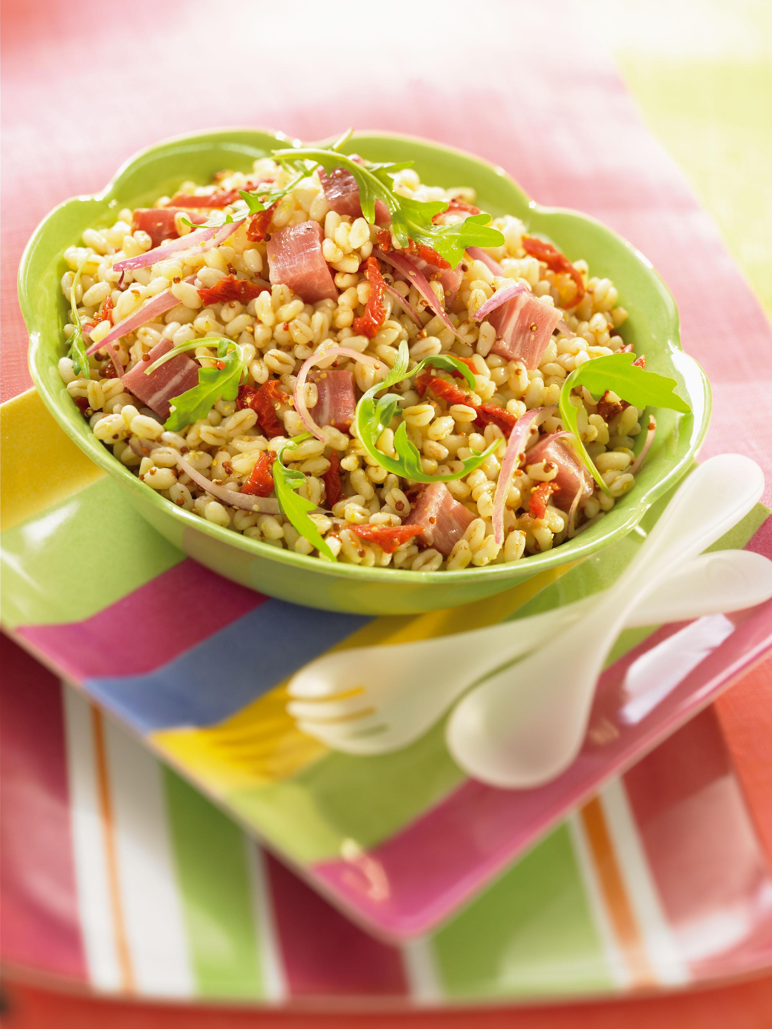 youmiam recipe salade de bl ebly la moutarde et au jambon fum. Black Bedroom Furniture Sets. Home Design Ideas